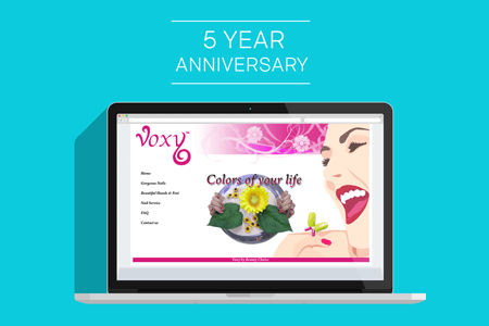 Our very first website mockup.