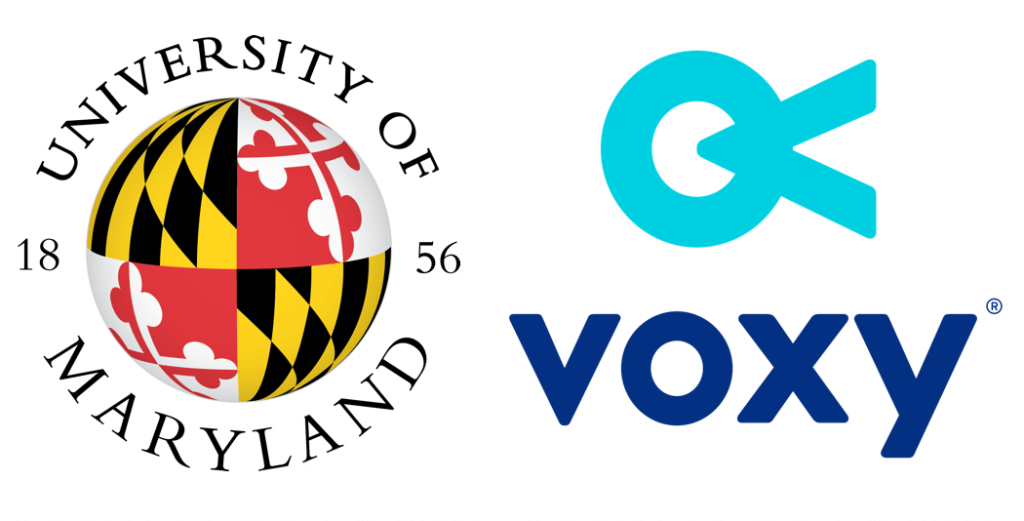 university of maryland and voxy logos