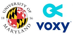 university of maryland and voxy logos